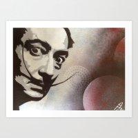 salvador dali Art Prints featuring salvador dali by Joedunnz