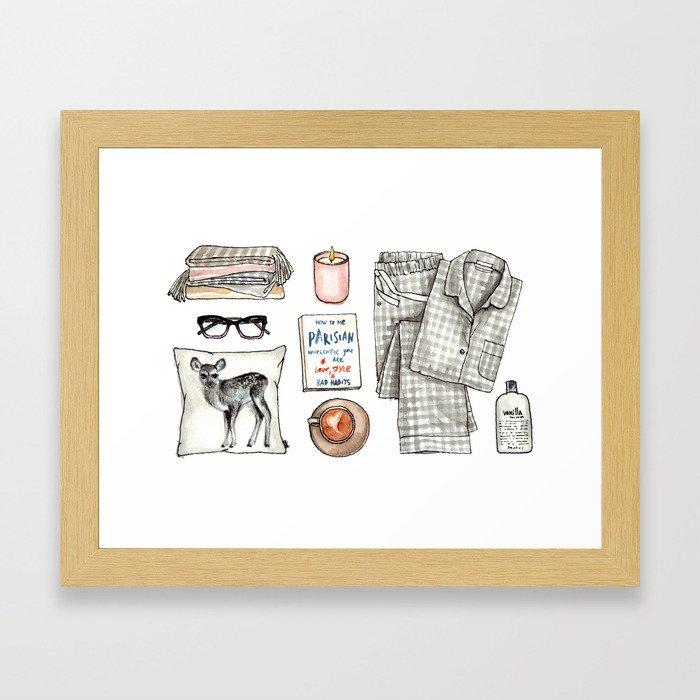 fashion. pajamas day Framed Art Print