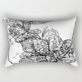Garden of Danger Rectangular Pillow