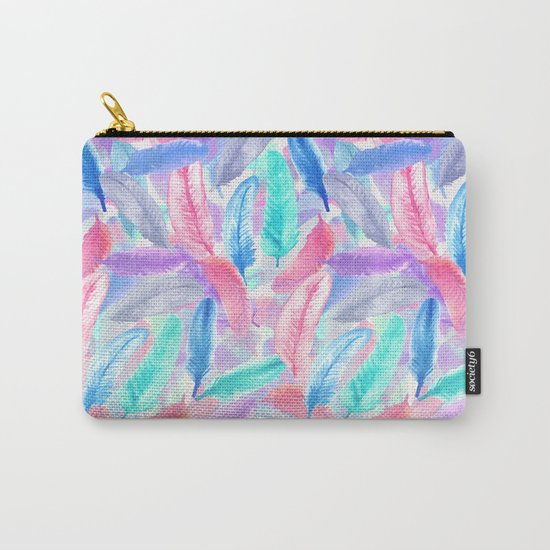 Falling Feathers Carry-All Pouch