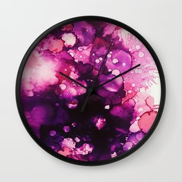 Abstract Florals - Alcohol Inks Wall Clock