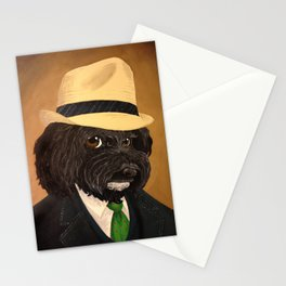 Fergus wears his fedora Stationery Cards