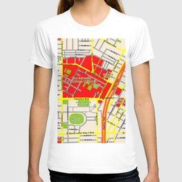 Map design of the University of southern California, LA T-shirt
