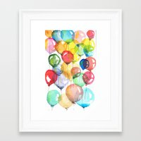 balloons Framed Art Prints featuring balloons by Katja Main