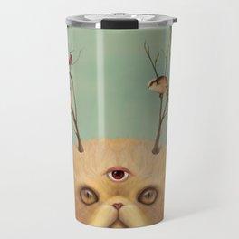 Bastet, Cat Deity - patron of the forest & animals Travel Mug