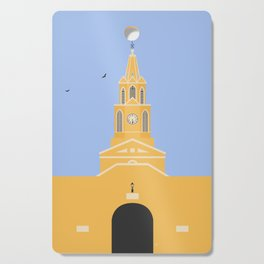 Cartagena, Colombia | Ciudad Amurallada - Walled City Clock Tower Gate Entrance Cutting Board