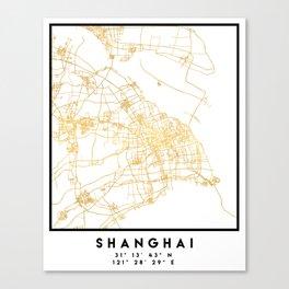 SHANGHAI CHINA CITY STREET MAP ART Canvas Print