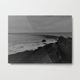 As I Stand on the Rocks Metal Print