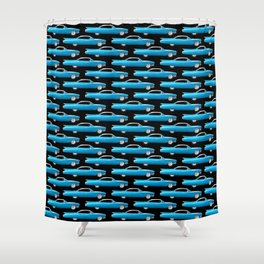 60's well finned Caddy in blue - pattern version Shower Curtain
