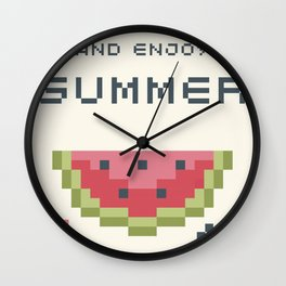 8Bit Watermelon Wall Clock