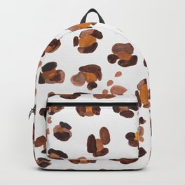 Watercolor hand drawn leopard pattern with shining drops pattern Backpack
