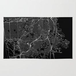 San Francisco Black Map Rug