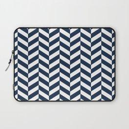 Herringbone - Navy + White Laptop Sleeve