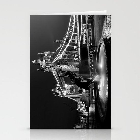 Tower Bridge And the Girl and dolphin Statue Stationery Cards