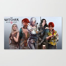 The Witcher's Women Canvas Print