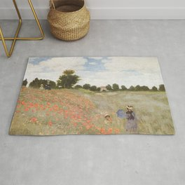 Poppies, Claude Monet, 1873 Rug