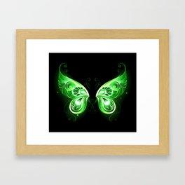 Green Fairy Wings Framed Art Print