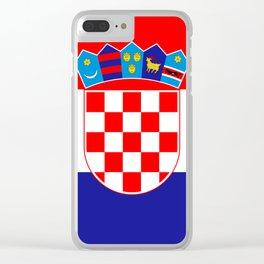 Flag of Croatia Clear iPhone Case