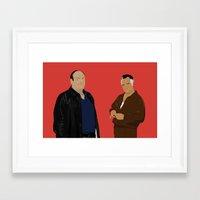 sopranos Framed Art Prints featuring Sopranos - Tony Soprano - Paulie Gualtieri by Lucho Margolin