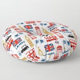 London travel pattern cute england print for nursery kids room boys or girls decor Floor Pillow