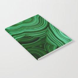 GREEN MALACHITE STONE PATTERN Notebook