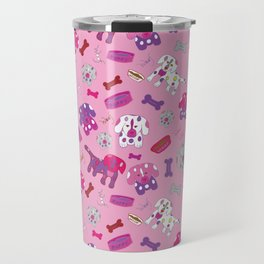 Pink, Purple, & Puppies Travel Mug