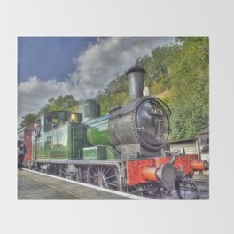 Steam Train at Bewdley Throw Blanket
