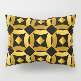 Art Deco-Like Pattern: 24-Karat Gold Casino Chips Pillow Sham