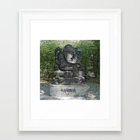 ganesha Framed Art Prints featuring Ganesha by Lucia
