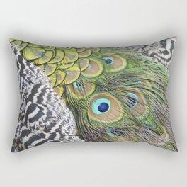 Peacock feathers pattern Rectangular Pillow