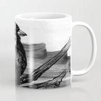 sparrow Mugs featuring Sparrow by Chuchuligoff