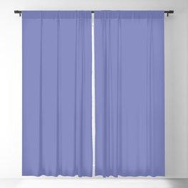 DEEP PARIWINKLE pastel solid color Blackout Curtain
