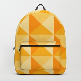 Geometric Prism in Sunshine Yellow Backpack