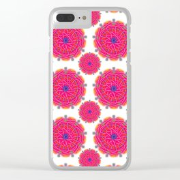 Pink Mandalas Clear iPhone Case