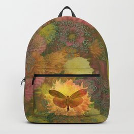 Autum Dhalia Buttefly Circadia Backpack