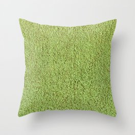 Phlegm Green Shag Pile Carpet Throw Pillow