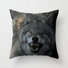 Malicious Intent Throw Pillow