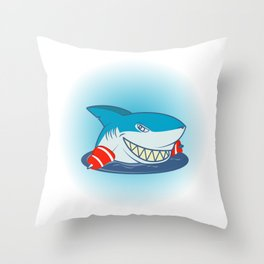 Shark Swimming Kids Swimmer Or Zookeeper Gift Throw Pillow