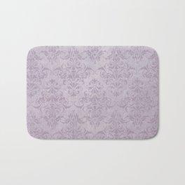 Vintage chic violet lilac floral damask pattern Bath Mat