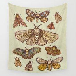 Moths Wall Tapestry