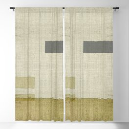 """Burlap Texture Natural Shades"" Blackout Curtain"