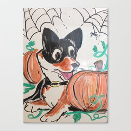 Corgi Halloween Canvas Print