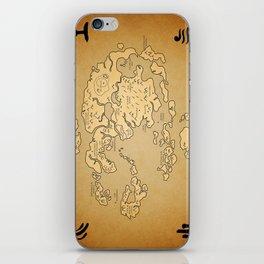 Avatar Last Airbender Map iPhone Skin