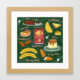 Cuban Food Framed Art Print