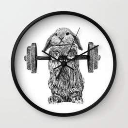Buns of Steel Wall Clock