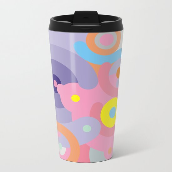 Modern Baroque Metal Travel Mug