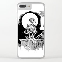 Skeleton waiting Clear iPhone Case