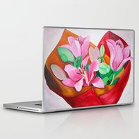 valentines Laptop & iPad Skins featuring Valentines Bouquet by marlene holdsworth