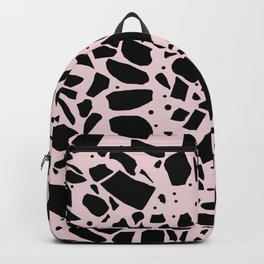 Terrazzo Spot Black on Blush Backpack