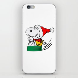 Snoopy Christmas Flying iPhone Skin
